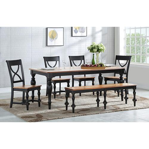 Torrance Spice/Ebony Leg table with Butterfly Leaf