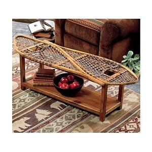 All Resort Furnishings - Vintage Snowshoe Coffee Table - Bench