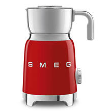 Smeg 50s Retro Style Aesthetic Milk Frother, Red