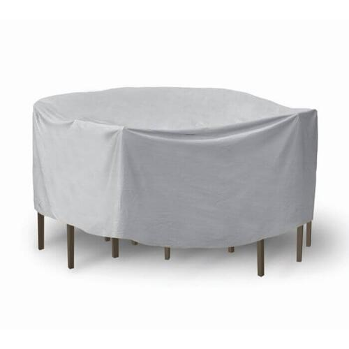 "Round Table & Chair Set Cover, 48"" x 54"" Table With 4-6 High Back Chairs"