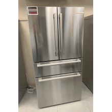 View Product - 800 Series French Door Bottom Mount Refrigerator 36'' Easy clean stainless steel B36CL80SNS
