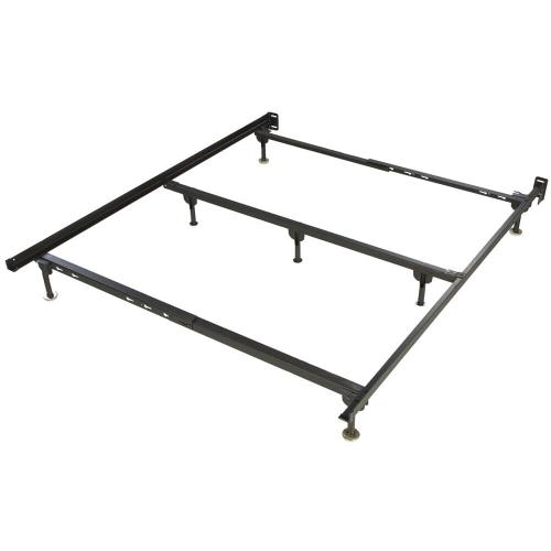 Metal Bed Frame Queen Size w/ Spin Glides 7 legs