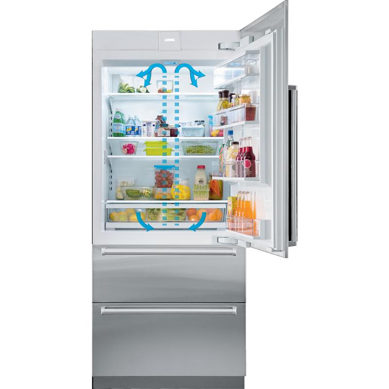 "30"" Designer Over-and-Under Refrigerator/Freezer with Ice Maker and Internal Dispenser - Panel Ready"
