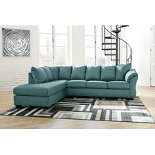 Darcy - Sky 2-Piece Sectional with Left Facing Chaise