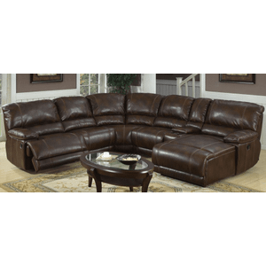 3350 Chaise Reclining Sectional with Drink Holder by Kian