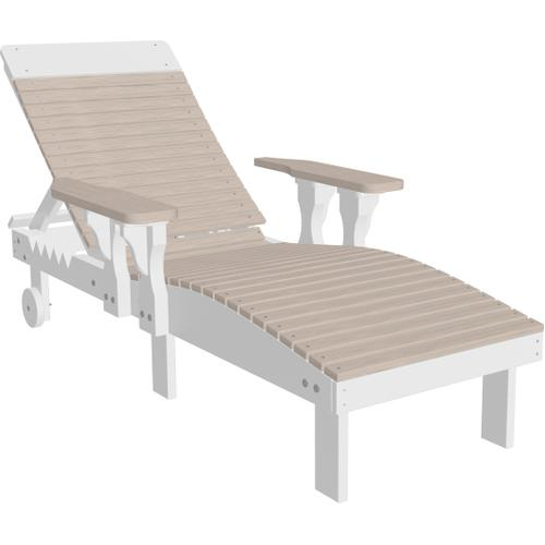 Lounge Chair Premium Birch and White