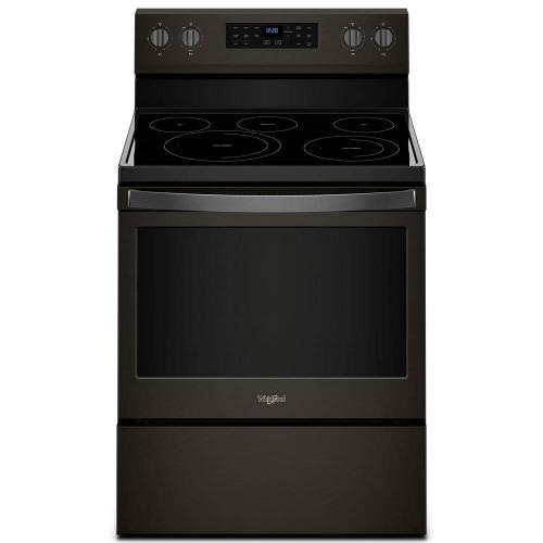 Whirlpool 5.3CF Black Stainless Freestanding Convection Range with Self Clean