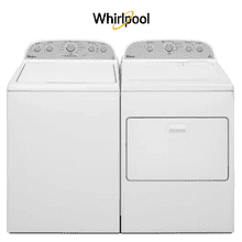 Whirlpool 4.3 cu.ft Top Load Washer with Quick Wash & Electric Dryer