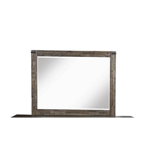 New Classic Furniture - Galleon 4 Pc. Queen Bedroom - Weathered Walnut - Queen Bed, Dresser & Mirror