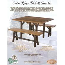 Cedar Ridge Table & Benches