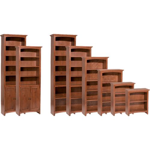 """Whittier Wood Furniture - McKenzie 24""""W Bookcase"""