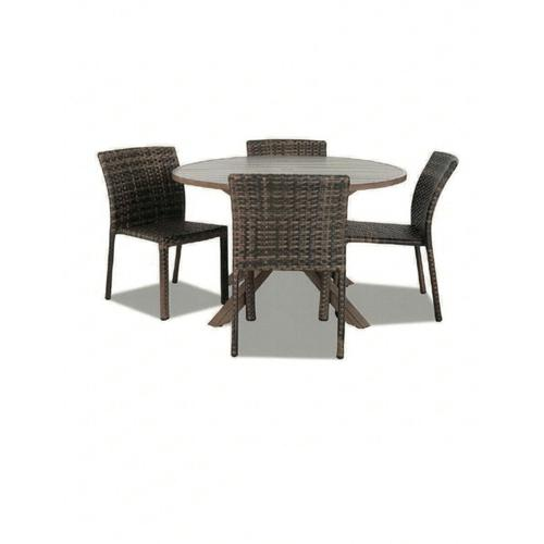 """48"""" Round Patio Table and 4 Side Chairs"""