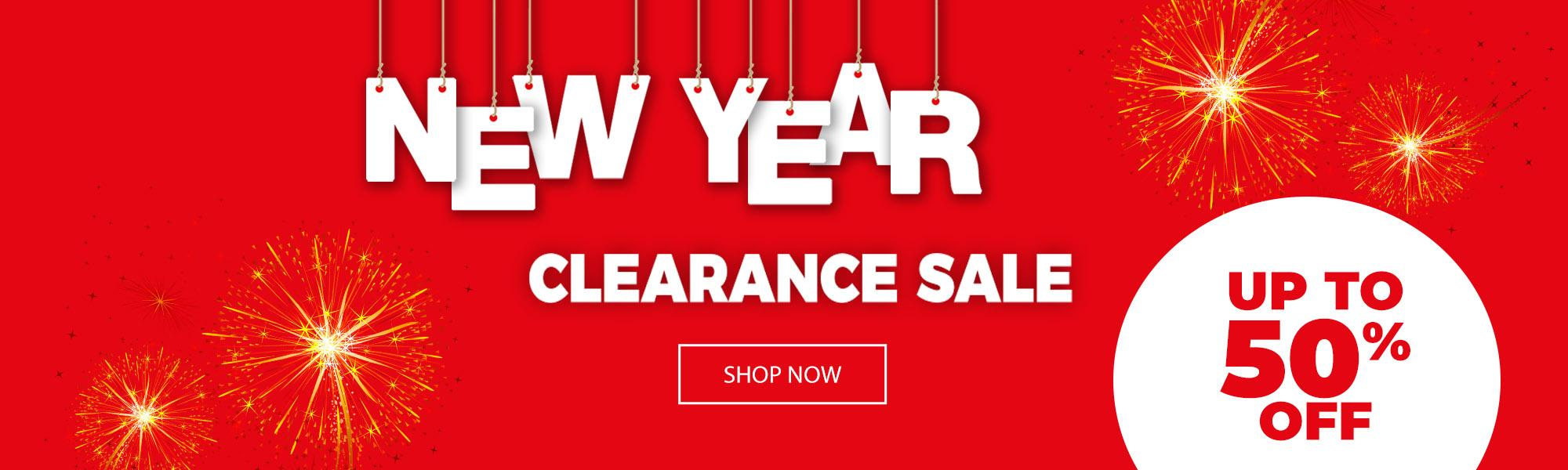 New year clearance sale up to 50% off