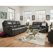 El Paso Steel Leather Reclining Sofa and Loveseat