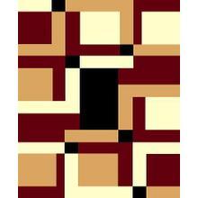 Medium - Moderno 9-Burgundy 5x8 Rug