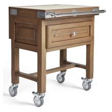 Oak Butcher Block Cart