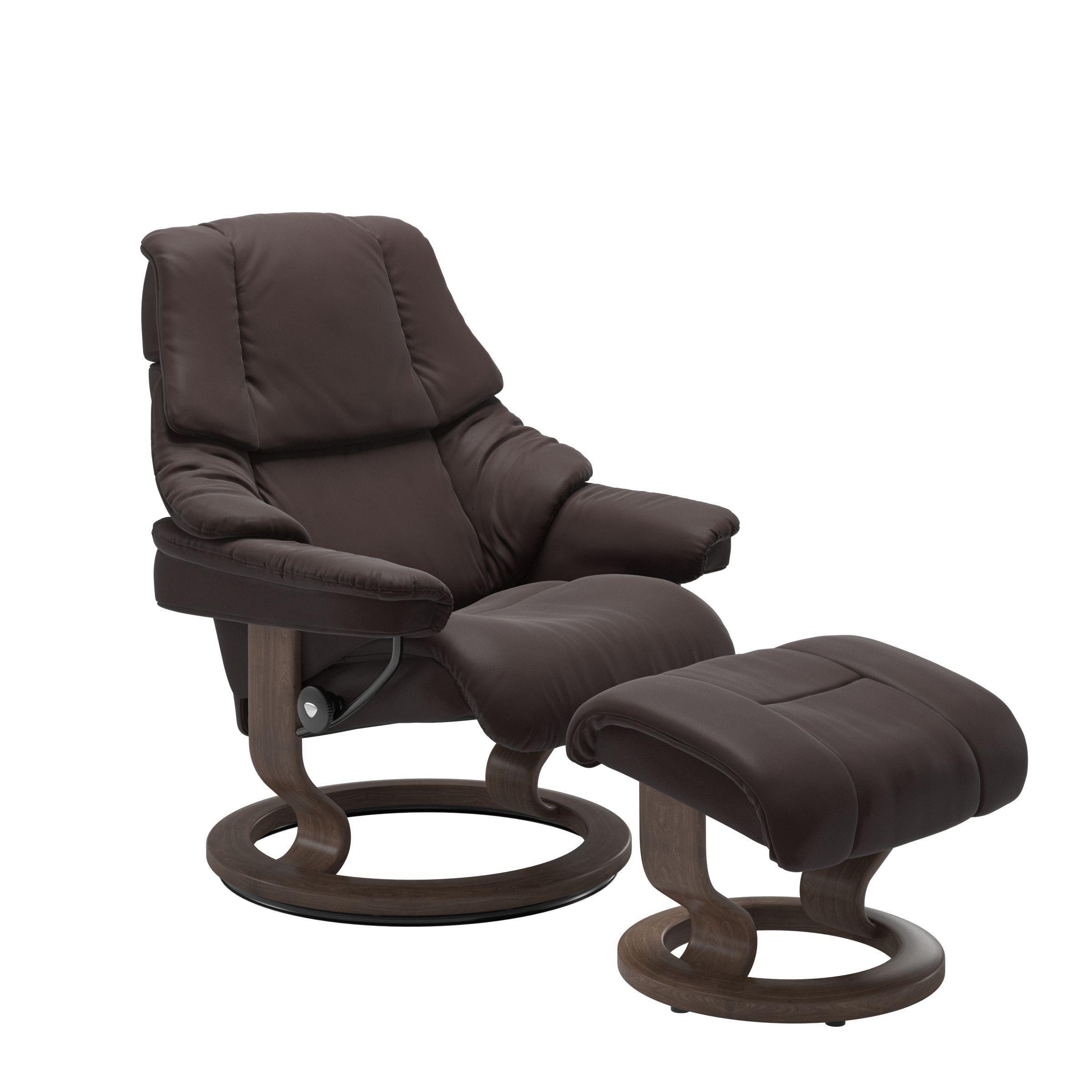 Stressless By EkornesStressless Reno Large Classic Base Chair And Ottoman