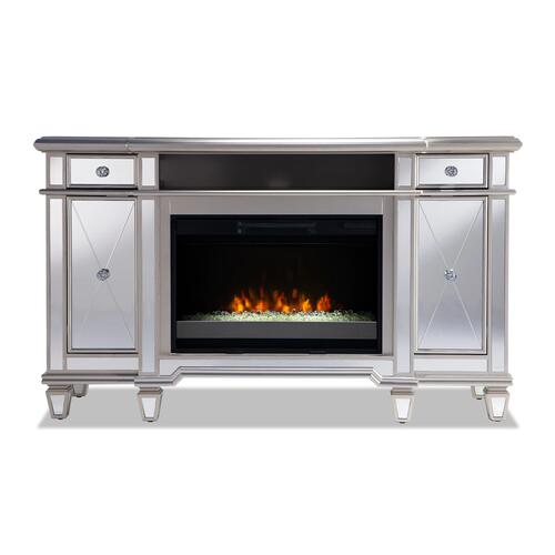 Twin Star Salon Media Fireplace TV Stand