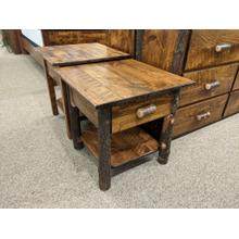 Etchwood Hickory Log 1-Drawer Nightstand