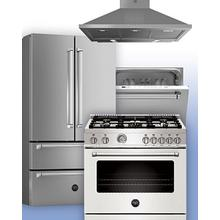 View Product - Bertazzoni Suite Deals - Buy Eligible Bertazzoni Cooking and Refrigeration Appliances and Receive Free Dishwasher and/or Ventilation. See 4-pc Example.
