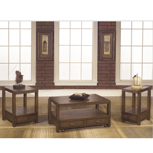 Null Furniture Inc - Rectangular Cocktail table in Distressed Umber finish   (1017-01,52893)