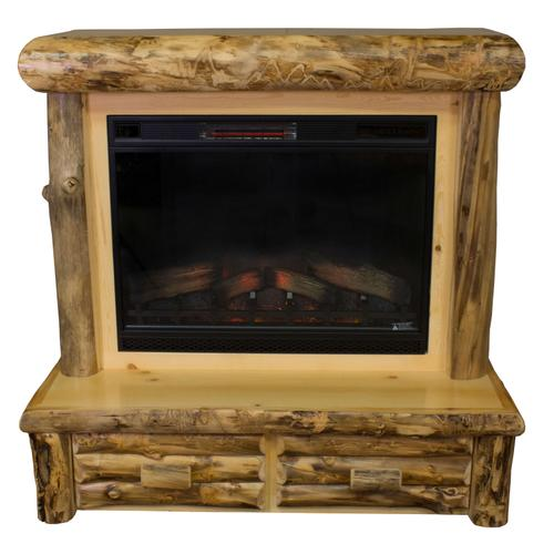 Aspen Mantle Fireplace w/ Drawers