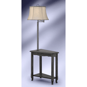 Medallion Lighting & Home Furnishings - AMISH MADE SOLID OAK SLATE GUNMETAL FLOOR LAMP     (SGM6002GDB,91529)