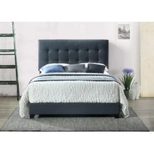 Charcoal Upholstered Bed Queen