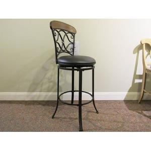 IRON SCROLL BAR STOOL