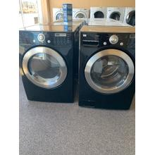 Refurbished LG Black Front Load Washer Dryer Set Please call store if you would like additional pictures. This set carries our 6 month warranty, MANUFACTURER WARRANTY AND REBATES ARE NOT VALID (Sold only as a set)