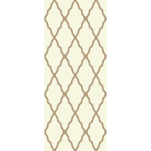 Persian Weaver - Deluxe Shag Trellis Ivory 8x11 Rug
