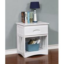 Discovery World Furniture White Nightstand