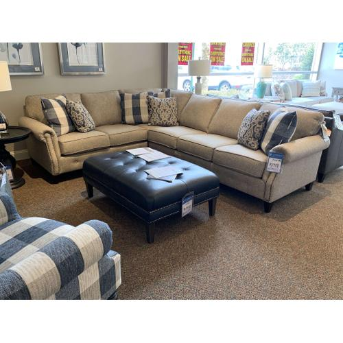 Mayo Furniture - Sectional with Nailhead Trim Customizable