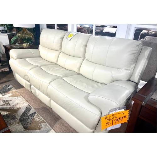 Andros Cloud Leather Reclining Sofa