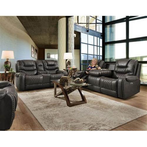 Corinthian Furniture - Desert Charcoal RecliningSofa and Loveseat