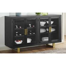 Yves Contemporary Dining Room Server with Glass Doors