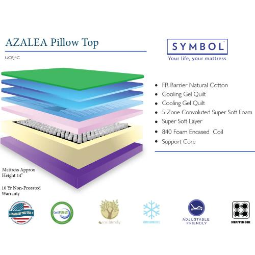 Azalea Pillow Top