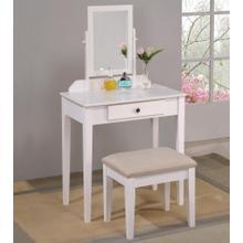 See Details - Iris Vanity Table & Stool