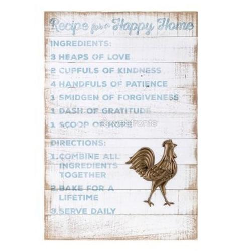TY Songbird Inspirational Wall Decors - Recipes for a Happy Home