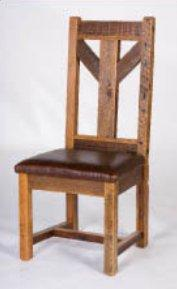 Windy Stables Side Chair With Leather Seat