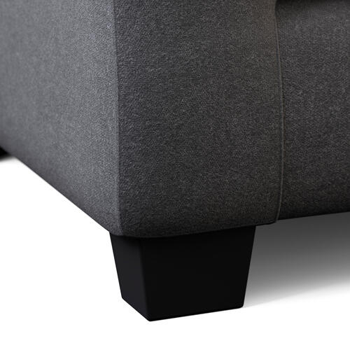 Malouf - Rest Haven Love Seat Charcoal