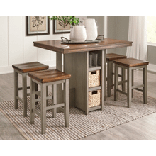 See Details - Lettner Counter Height Dining Table and Bar Stools (Set of 5)