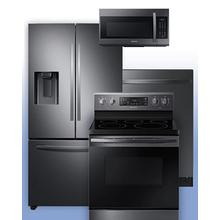 SAMSUNG - Get a Visa Reward Card for 10% off the purchase price of any Samsung 4-piece kitchen package. See the Black Stainless Steel French Door Refrigerator Electric Range Example.