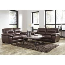 Mellen Leather Sofa and Loveseat