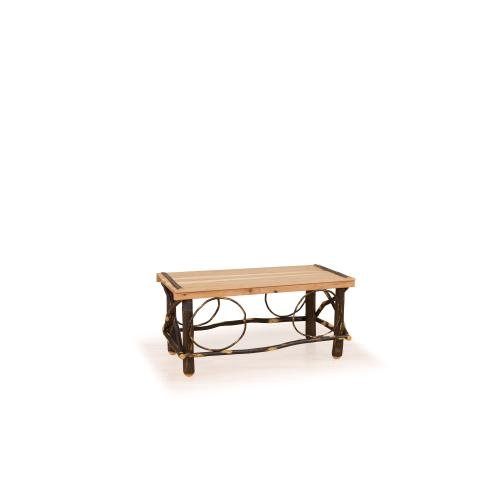 Brage Rustic Collection - Hickory Slat Top Coffee Table