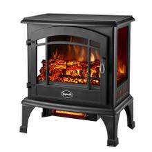 WORLDHEATER EQS5140 BLACK Sanibel 3-Sided View Electric Stove