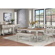 Jennifer Dining Set - Table, Bench, 4 Side Chairs