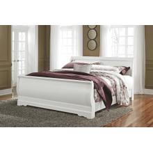 See Details - Anarasia - White - King Sleigh Bed