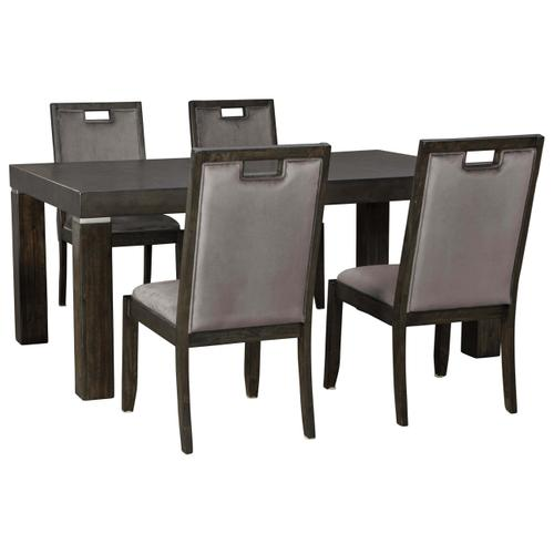 Ashley Furniture - 5 Piece Hyndell Dining Group
