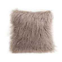 "Cushion Longwool Tibetan 16"" BIRCH"